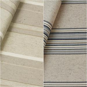 Tecido de almofada listrado – 2 cores - Coleção Vicenzza