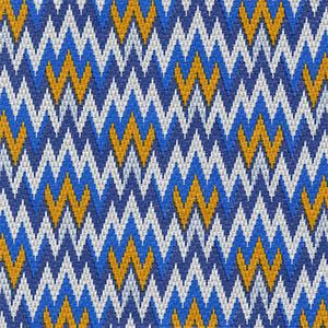 Tecido corino chevron azul Larg. 1,40 m