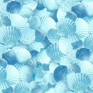 Tecido impermeável Acqua Soleil conchas maraí