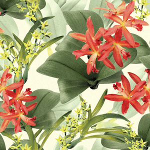 Tecido impermeável Acqua Soleil floral juruá vermelho